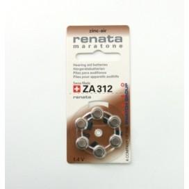 Bateria słuchowa Renata 312 - Blister 6 szt.