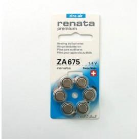 Bateria słuchowa Renata 675 - Blister 6 szt.