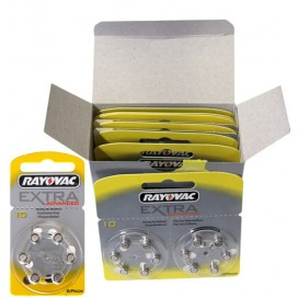 Hearing Aid Battery Rayovac 10 - blister packs of 6 items