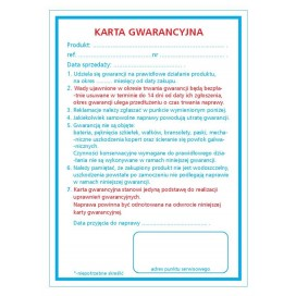 Gwarancja - paczka 500 arkuszy