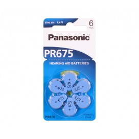 Panasonic 13 Hearing Aid battery - blister pack of 6
