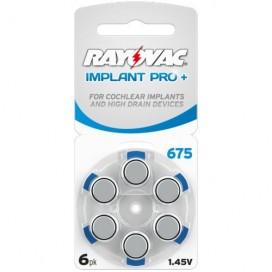 Bateria słuchowa Rayovac 675 Implant Pro+ blister pak. po 6 szt.