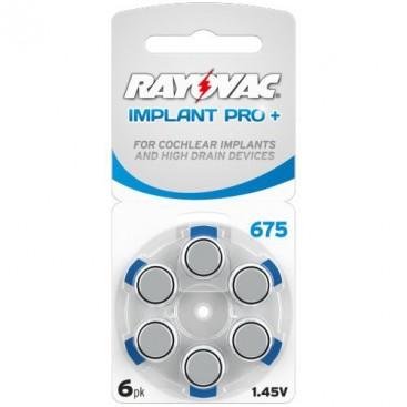 Bateria słuchowa Rayovac 675 - blister pak. po 6 szt.