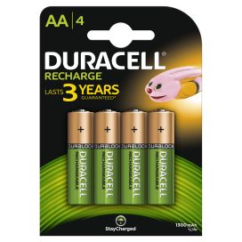 Akumulator Duracell AA 1300mAh - blister 4szt