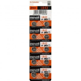 Maxell battery LR43 - blister 10items