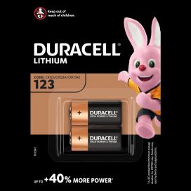 Bateria litowa Duracell CR 123 3V - blister 2 szt.