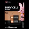 Duracell lithium battery CR 123 3V - blister 2 items.