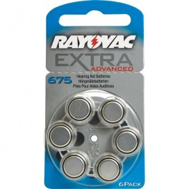 Rayovac 675 Hearing Aid Battery - blister of 6