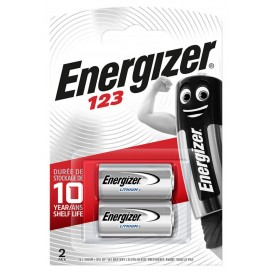 Energizer CR123 battery - blister packs of 2
