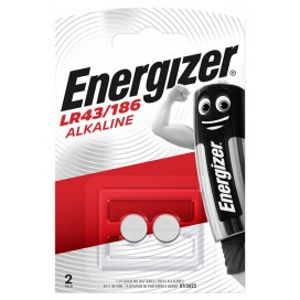 Energizer 186 / LR43 battery - blister packs of 2