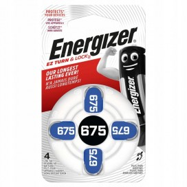 Energizer 675 hearing aid batteries - blister of 8