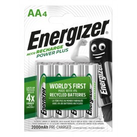 Energizer 2000mAh AA HR6 Rechargeable Battery - blister pack of 4