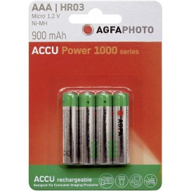 Akumulator AGFA PHOTO AAA 900 mAh -  blister 4 szt. / pudełko 24 szt.