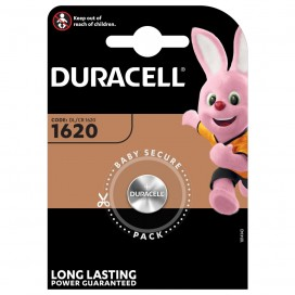 Duracell Lithium Coin Cell battery CR 1620 3V- blister of 1