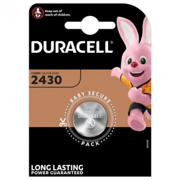 Duracell CR 2430 3V lithium Battery - blister of 1