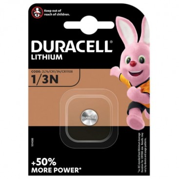 Duracell lithium battery 1/3N 3V- blister of 1