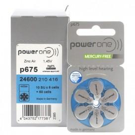 Bateria słuchowa VARTA 675 POWER ONE pakowane po 6szt