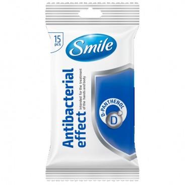 Chusteczki SMILE antybakt.D-pantenol 15szt