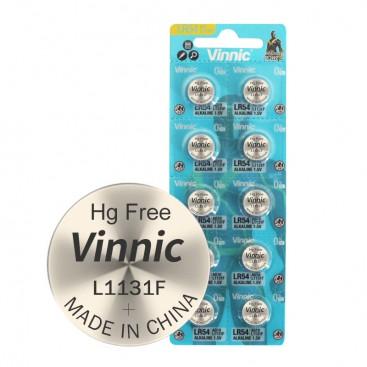 Alkaline Vinnic G 10 /L1131/ Battery - Blister 10 items