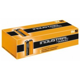 Duracell 6LR61 9V Industrial Alkaline Battery - box of 10