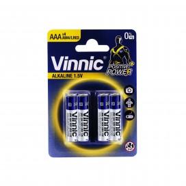 Vinnic Alkaline Battery LR3 - Blister pack of 4