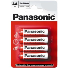 Panasonic R-6 AA Alkaline Battery - blister of 4