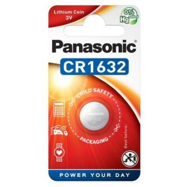 Lithium Panasonic CR 1632 3V battery - Blister packs of 5