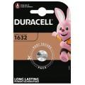 Lithium Duracell CR 1632 3V battery - Blister packs of 1
