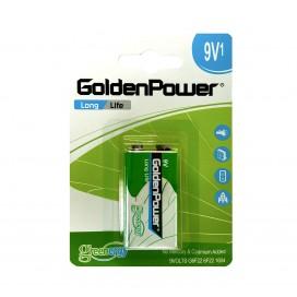 Bateria Golden Power 9V 6F22 blister B1 cynkowa LONGLIFE