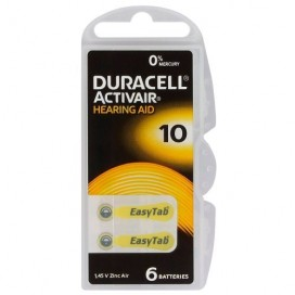 Duracell hearing aid battery 10 1,45V - blister of 6