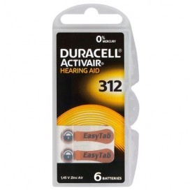 Duracell hearing aid battery 312 1,45V - blister of 6