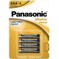 Panasonic LR-6 AA Bronze Alkaline Battery - blister of 4