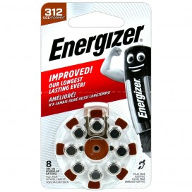 Energizer 312 Hearing Aid Batteries - blister of 8