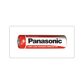 Alkaline Battery Panasonic R-6 AA - blister packs of 4