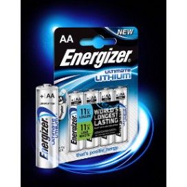 Energizer AA L91 LR6/FR6 Battery - blister of 4