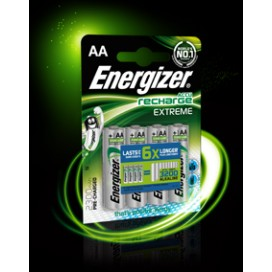 Energizer 2300mAh AA HR6 Rechargeable Battery- blister pack of 4