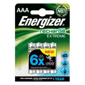 Energizer 800mAh AAA HR3 Rechargeable Batteries - blister pack of 4