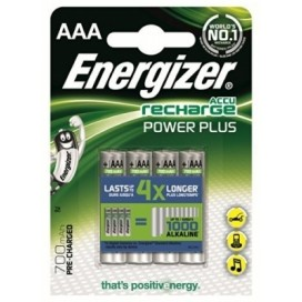 Energizer 700mAh AAA HR3  Rechargeable batteries - blister pack of 4