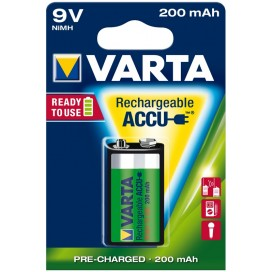 Varta rechergeable battery HR9V 200 mAh ready 2 use - blister of 1