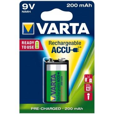 Akumulator Varta HR9V 200 mAh ready 2 use - blister 1 szt.