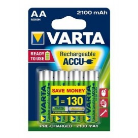Varta rechargeable battery HR6 2100 mAh ready 2 use - blister of 4