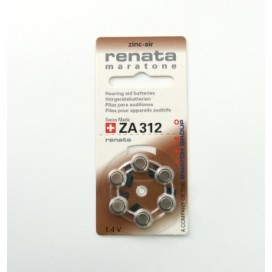 Hearing aid battery Renata 312 - Blister of 6