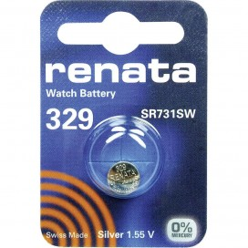 Silver Battery Renata SR731SW / 329 -pack of 10