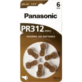 Panasonic 312 Hearing Aid battery - blister pack of 6