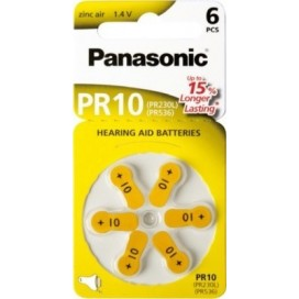 Panasonic 10 Hearing Aid Battery - blister pack of 6