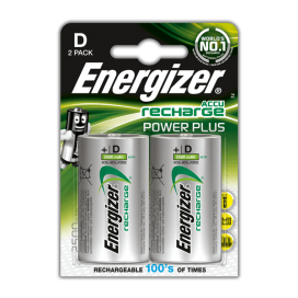 Energizer 2500mAh HR14 Rechargeable Batteries - blister pack of 2