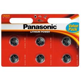 Bateria litowa Panasonic CR 2025 3V - Blister 6 szt.