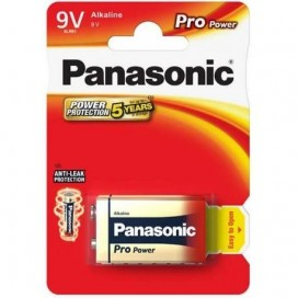 Panasonic 9V 6F22 Alkaline Battery - blister of 1