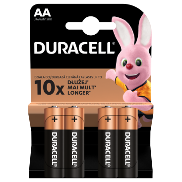 Duracell LR6 Alkaline battery - blister of 4
