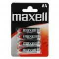Maxell battery R-6 AA blister of 4
